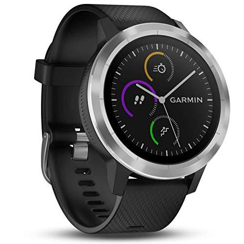 Garmin vívoactive 3 GPS-Fitness-Smartwatch - vorinstallierte Sport-Apps,kontaktloses Bezahlen mit Garmin Pay,Schwarz-Silber (Standard)