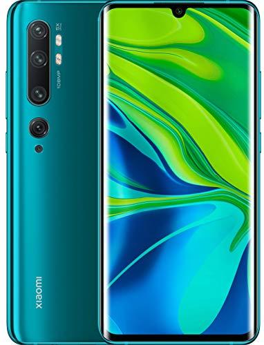 Xiaomi Mi Note 10 Smartphone (3D Curved AMOLED FHD+ Display, 128GB interner Speicher + 6GB RAM, 108MP KI-Penta-Rückkamera, 32MP Selfie-Frontkamera, Dual-SIM, Android 9) Aurora Green)